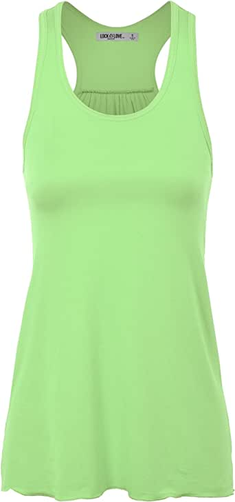 LL Womens Everyday Racerback Tank Top - Made in USA Wt830_mint Small