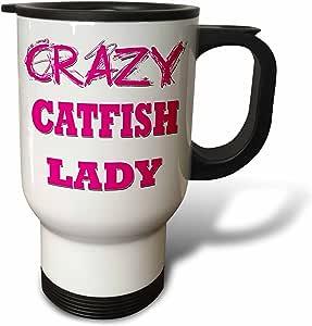 blonde Designs 疯狂拇指 pointing 后女用是–crazy catfish 女用–旅行杯 白色 14 oz