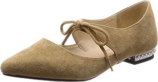 [东方之旅] 浅口皮鞋 珍珠 鞋跟 蝴蝶结 尖头 平底 聚会 9104