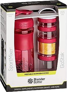 BlenderBottle Combo Pak - Sportmixer Shaker 和 Gostak Starter 4 包 + 精美礼品盒手柄