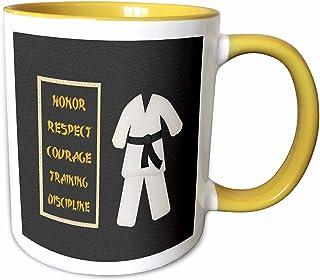 3dRose 马克杯 黄色/白色 15-oz Two-Tone Yellow Mug mug_180798_13