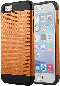 iPhone 6 手机壳,OKASE iPhone 6 4.7 双层混合装甲手机壳,iPhone 6 4.7 双层重型手机壳。 iPhone 6 耐用保护硬层 + 塑料外壳,iPhone 6 防震/防尘保护套适用于 4.7 英寸 iPhone (OKASE (TM) 原装用户可怕包装) Style 2 - Bronze