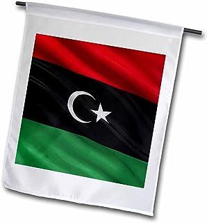 carsten reisinger illustrations–插图–国旗 OF 利比亚 waving IN THE WIND–旗帜 12 x 18 inch Garden Flag