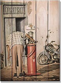 Gizaun 美术填充内/外壁画,全彩雪松色 棕褐色 28-Inch by 36-Inch FU2836