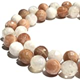 """Parent- 10mm 光面圆形 16"""" Mixed MoonStone (From Madagascar)"""