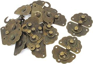 Uxcell a15110400ux0340 复古风格锁扣复古风格木质盒锁扣闭合青铜色 10 件套