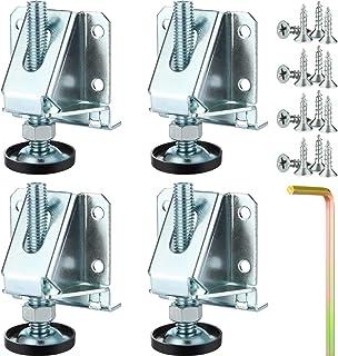重型升降水平器可调节家具腿部水平器 M10 重型家具水平器腿柜水平支架带锁螺母的工作台,4 件装