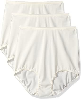 Shadowline 女式内裤,无缝尼龙内裤(3 条装) 象牙色 6