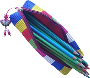 亚洲主题拉链铅笔盒化妆盒促销盒 Fun Stripes NA