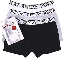 Replay 男士拳击短裤3件装 tm605