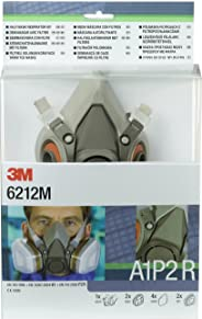 3M 半覆盖面罩/口罩套组 尺寸M 1套包含2个6051级别A1过滤阀 4个5925防颗粒插入式过滤阀P2R 2个501盖 6212M EN安全认证