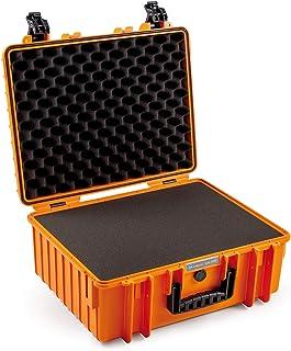 B&W outdoor.cases 户外行李箱 6000 / O/SI(带立方体泡沫衬垫,防碎,保护箱,橙色,运输箱防尘,防水)6000 / O/SI