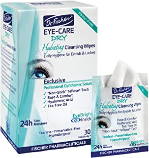 Dr. Fischer 日常卫生保湿眼睑湿巾 - 为干眼*提供补充协助并清洁眼部秘密。 富含水分,有效清洁和滋润(30 片)