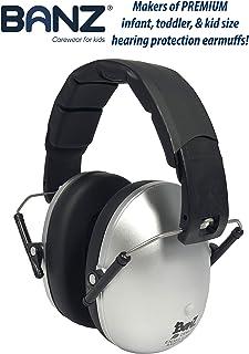 baby banz儿童防噪音放鞭炮保护耳罩-银灰色 2-10岁