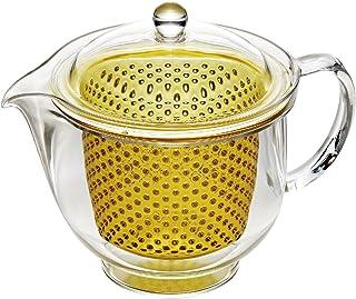 曙产业 Tritan 材质塑料透明泡茶壶480ml  黄色