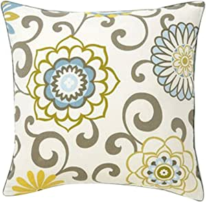 Jiti Ply Sky Throw Pillow, Cotton, 20-Inch Square, Multicolored