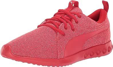 PUMA 男士 Carson 2 针织运动鞋 红色(High Risk Red) 7.5