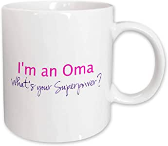 InspirationzStore Typography - Im an Oma - Whats your Superpower - hot pink - funny gift for grandma - 11oz Mug (mug_193754_1)