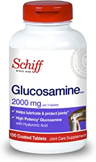 Schiff Glucosamine HCl, 2000 mg Per 2 Coated Tablets, 150 Coated Tablets 300