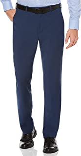 Perry Ellis Men's Modern Fit Flat Front Multi Bead Stripe Pant