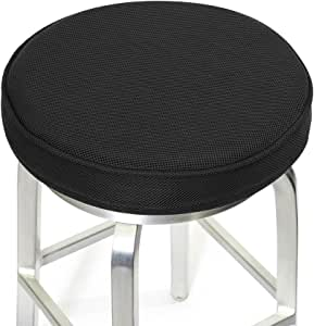 "Shinnwa Bar Stool 垫,*泡沫杆凳套圆形垫圈,防滑背衬和弹性带 黑色 12""(30cm) 07282_FHWYD_BK_30_U"