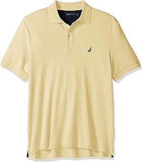Nautica 男士经典柔软棉质纯色短袖Polo衫,French Vanilla,3X Big