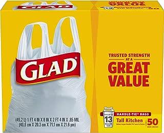 GLAD) handle-tie 厨房垃圾袋,13加仑