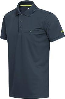 C.P.M.男式 Polo Maniche Corte AD Asciugatura Rapida 衬衫,宇宙,52