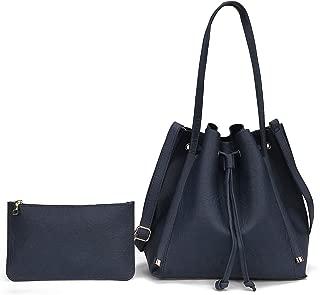 女式 MK CUTE 设计师 LV 手提包钱包顶部提手超大 2 件 PU 皮