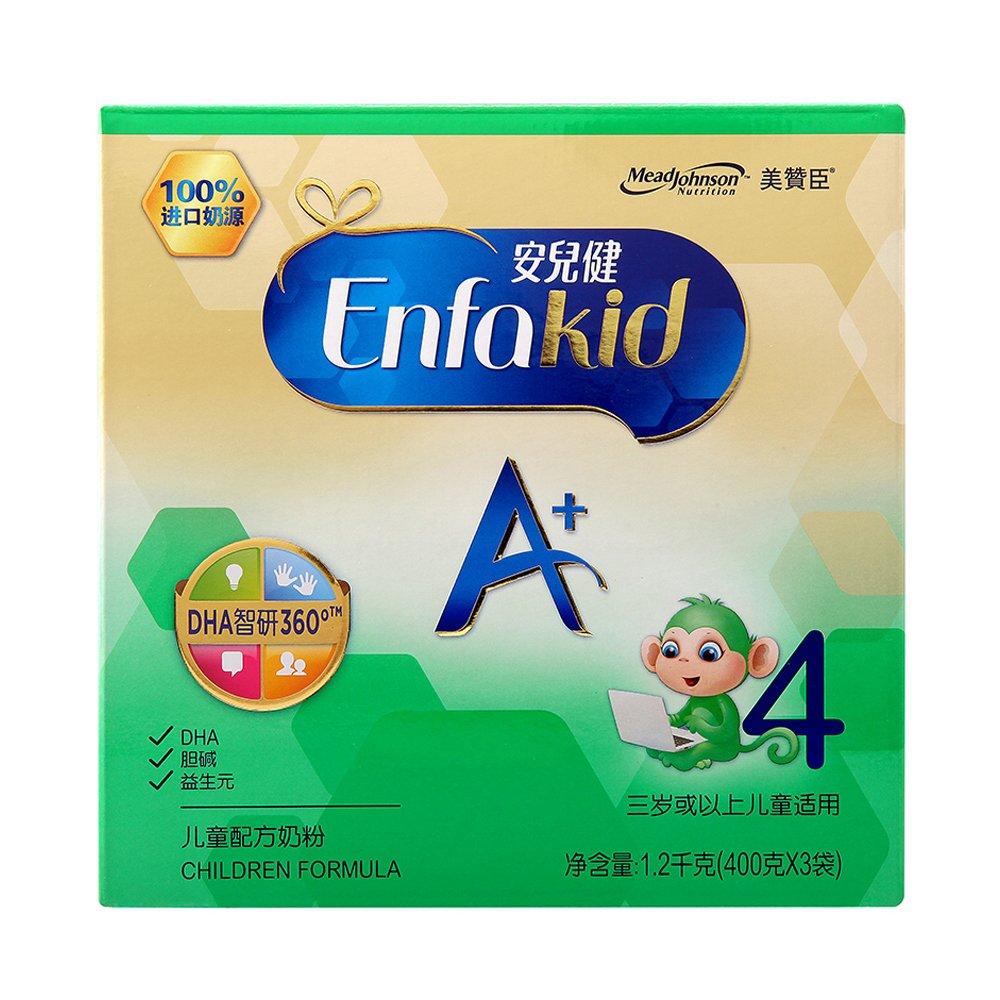 美赞臣 安儿健A+ 儿童配方奶粉 4段 36个月以上 1200g