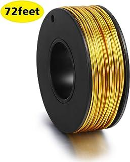 182.88 米 18 Guage 珠宝线防锈铝线工艺品(24 码) 金色 AL075