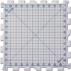 """PuzzleMat 旋转切割垫系统 白色 12"""" x 12"""" 90023"""