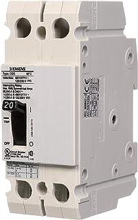 Siemens CQD220 20 安培,双极 480/277V 交流电,125/250V 直流,14KAIC 电缆输入/电缆断路器
