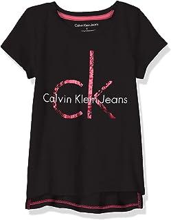 Calvin Klein 卡尔文·克莱恩 小女童 CK Logo T恤