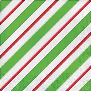 Creative Converting 16 片装午餐纸巾 Peppermint Party 324153