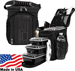 IsoCube 3 Meal Management System / Insulated Lunch Box / Insulated Lunch Bag - Isolator Fitness IsoCube 3 Meal Management System / Insulated Lunch Box / Insulated Lunch Bag - Isolator Fitness 漆黑 12.1 x 10 x 7.3 inches