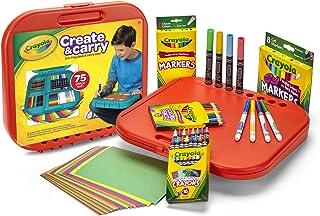 Crayola 绘儿乐 04-6814 创建与随身携带的儿童美术用品,75件艺术礼物,适合5岁以上的人群