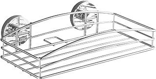 WENKO 20883100 真空中壁架 - 固定无需钻孔,钢质,25.91 x 6.6 x 13.97 厘米,镀铬
