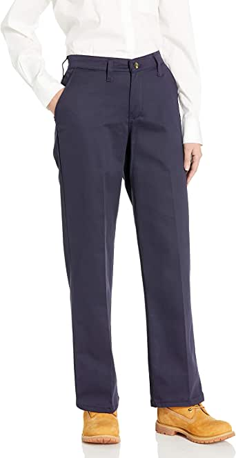 Red Kap 女士无褶棉质工装裤 *蓝 8x30
