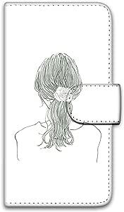 卡丽 壳 印刷手册 女孩子马尾 智能手机壳 手册式 对应全部机型 女の子ポニーテールB 5_ ARROWS ES IS12F