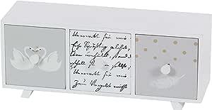 """木质装饰胸部,灰色/棕色,12.7 厘米 x 38.1 厘米 White/Gray/Black 5"""" x 12"""" 98769"""