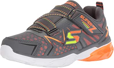 Skechers 斯凯奇 Thermoflux 儿童运动鞋 炭灰色/橙色 1 M US 儿童