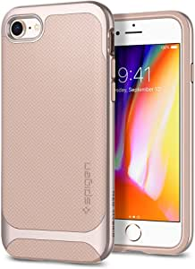 Spigen Neo Hybrid Herringbone iPhone 8 手机壳/iPhone 7 手机壳柔性内部保护加强硬壳苹果 iPhone 8 (2017) / iPhone 7 (2016)054CS22202 Pale Dogwood/Platinum Gold