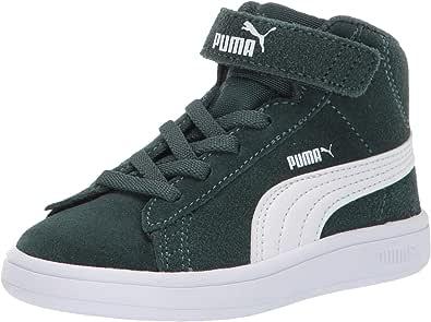 PUMA 彪马 中性 儿童 Smash V2 Mid Velcro 运动鞋 Ponderosa Pine/White 1.5 Little Kid
