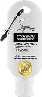 Monkey Movement 液体手粉笔:No Mess Liquid Grip 干手,用于攀岩、玩家、台球、举重、交叉健身、体操、汗水手