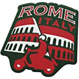 Vagabond Heart Rome 意大利旅行贴布,罗马巨宫和 Vespa/是背包和行李/背包和旅行徽章的*纪念品。