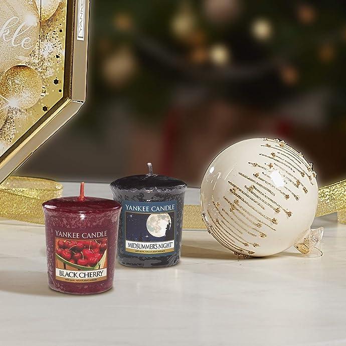 Yankee Candle 扬基蜡烛 Votive 香薰蜡烛套装 流行香味混装 49g*18块 镇店之宝¥150