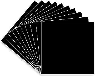 30.48 厘米 x 30.48 厘米永久粘合背衬乙烯基板,10 个装(光泽饰面)黑色 Oracal 651 适用于室内/室外标记、字母、装饰、标志、贴花、十字架窗户图形、剪影浮雕……