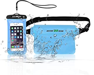 高级防水干燥袋带手机袋和腰袋 5升/10升/20升/30升,旅行装备适用于皮划艇、游泳、漂流、划船、海滩、露营、钓鱼、远足、浮潜