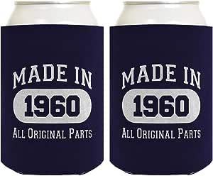 60 岁生日礼物 1958 年制作 60 岁生日多件装冰罐冷却器 *蓝 A-P-BD-72-00-JIT01-02-Navy